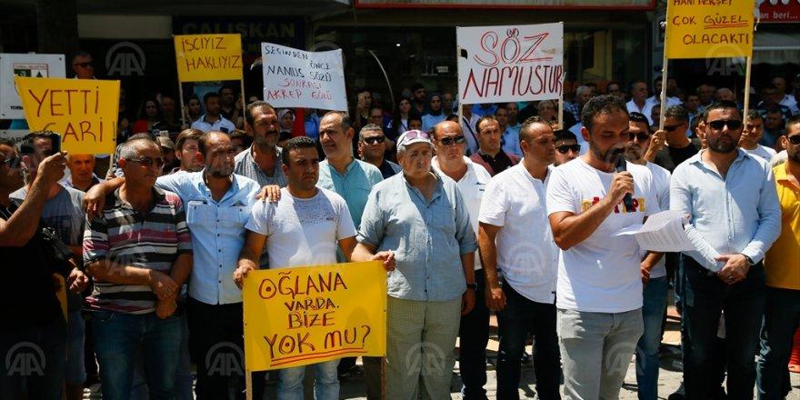 TORBALI'DA 'OĞLUNA VAR BİZE YOK MU?' EYLEMİ..400 İŞÇİ EYLEME BAŞLADI