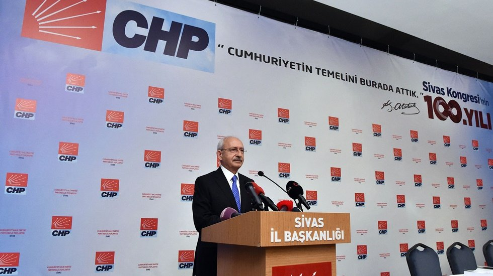 CHP PARTİ MECLİSİ'NDEN SİVAS'TA 100.YIL BİLDİRİSİ