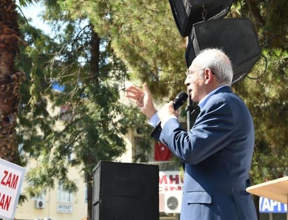 Kılıçdaroğlu, Aydın Çine'de halka seslendi