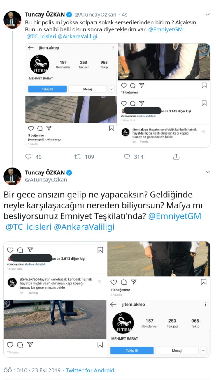 CHP'Lİ TUNCAY ÖZKAN'A 'BİR GECE ANSIZIN' TEHDİTİ İDDİASI