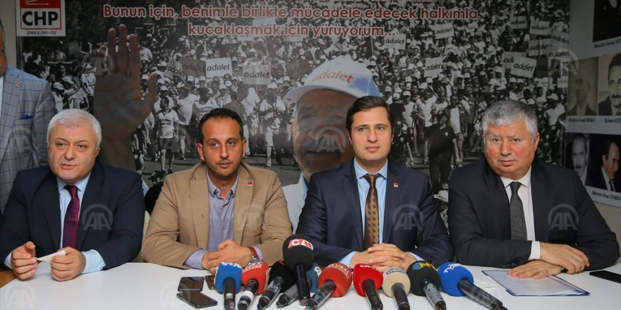 CHP'DEN TUTUKLANAN URLA BELEDİYE BAŞKANI OĞUZ'A DESTEK