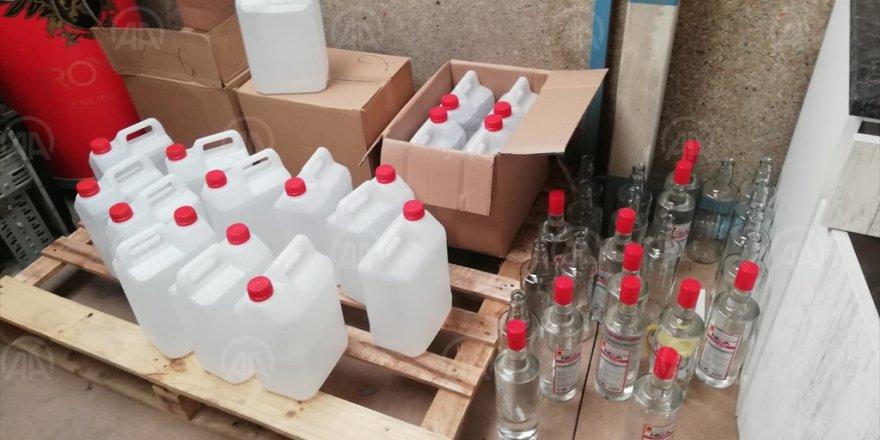İZMİR'DE 'ETİL ALKOL' OPERASYONU...BİNLERCE ŞİŞE...