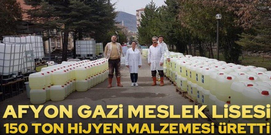 LİSE ÖĞRENCİLERİ 10 GÜNDE 150 TON HİJYEN MALZEMESİ ÜRETTİ..