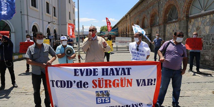CHP'Lİ SERTEL'DEN DEMİRYOLU İŞÇİSİNE DESTEK