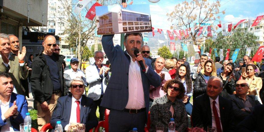 İŞTE ÖZKANLAR PAZARI'NIN YERİ..CHP ADAYI SANDAL AÇIKLADI