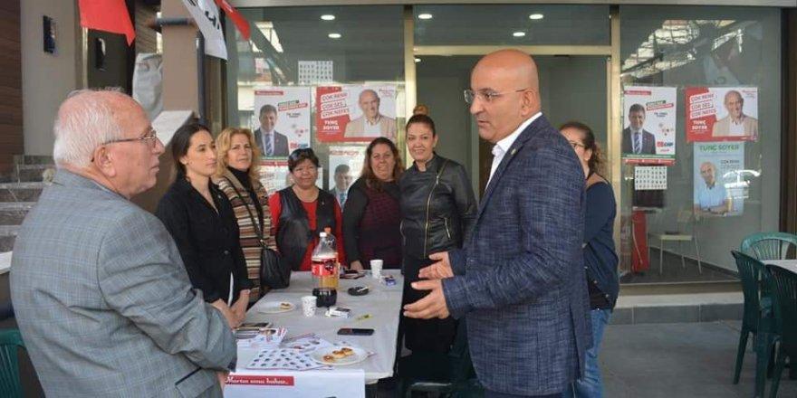 CHP'Lİ MAHİR POLAT KARŞIYAKA'DA ESNAFI DİNLEDİ