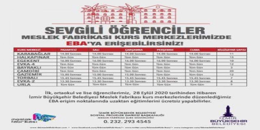 İZMİR'DE EBA ERİŞİM MERKEZLERİ 28 EYLÜL'DE AÇILIYOR