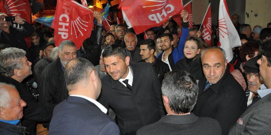 CHP'Lİ GÜRBÜZ YENİ FOÇA'DA PROJELERİNİ ANLATTI