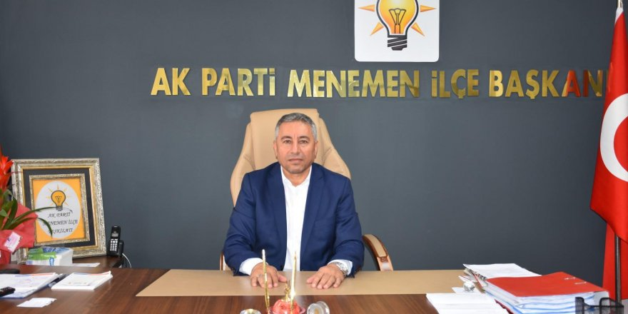 AK PARTİ MENEMEN İLÇE BAŞKANI ÇELİK'TEN 'İSTİFA 'AÇIKLAMASI