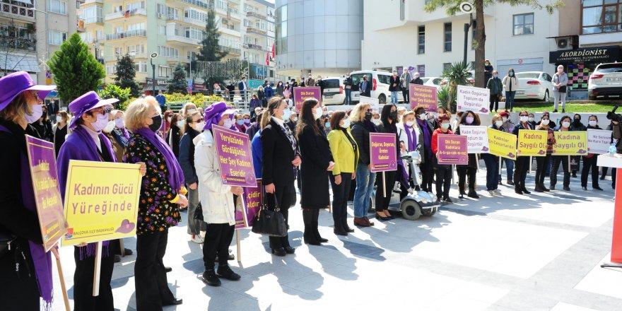 BALÇOVA'DA KADINLAR 'ÖLMEZ İSTEMİYORUZ' DEDİ
