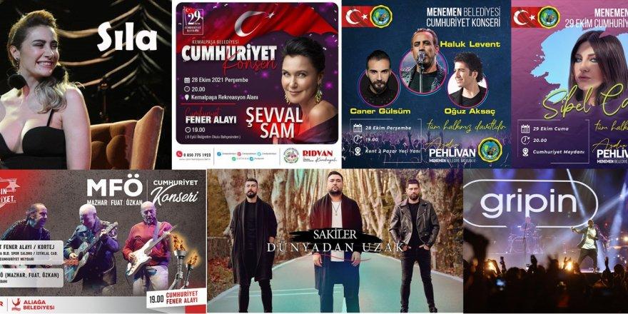 İZMİR'DE ŞARKI FESTİVALİ GİBİ CUMHURİYET BAYRAMI